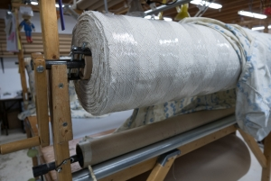 This is how big the bolt of fabric is.