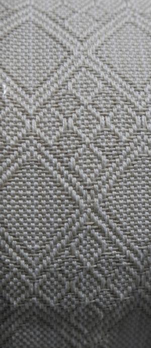 A closeup of the woven design.