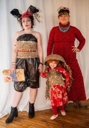 """Yellow Submarine,"" 4-year-old Juniper Belcher, model, The Dancing Jellyfish; Alida Belcher, maker; Sarah Riggins, plastic bag outfit"