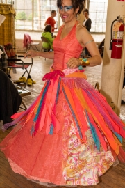 Earth, Spirit, Jewels, maker and model from Lewiston, prepares for the show.