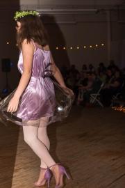 """""""Glass Onion,"""" Celia Bard, model; Helen Walter, maker, Brunswick"""