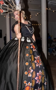"""""""In My Life,"""" Leah Cross, model; Susan Perrine, maker"""