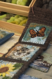 Felted work by A Wrinkle in Thyme Farm.