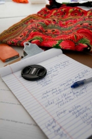 iPhones, textiles and notes.