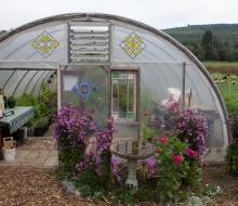Compass Rose greenhouse. Cute.
