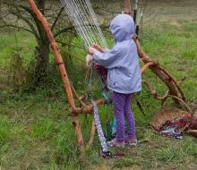 A lone weaver.