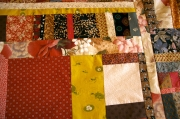 Christine used rustic tones in her freeform quilt project.