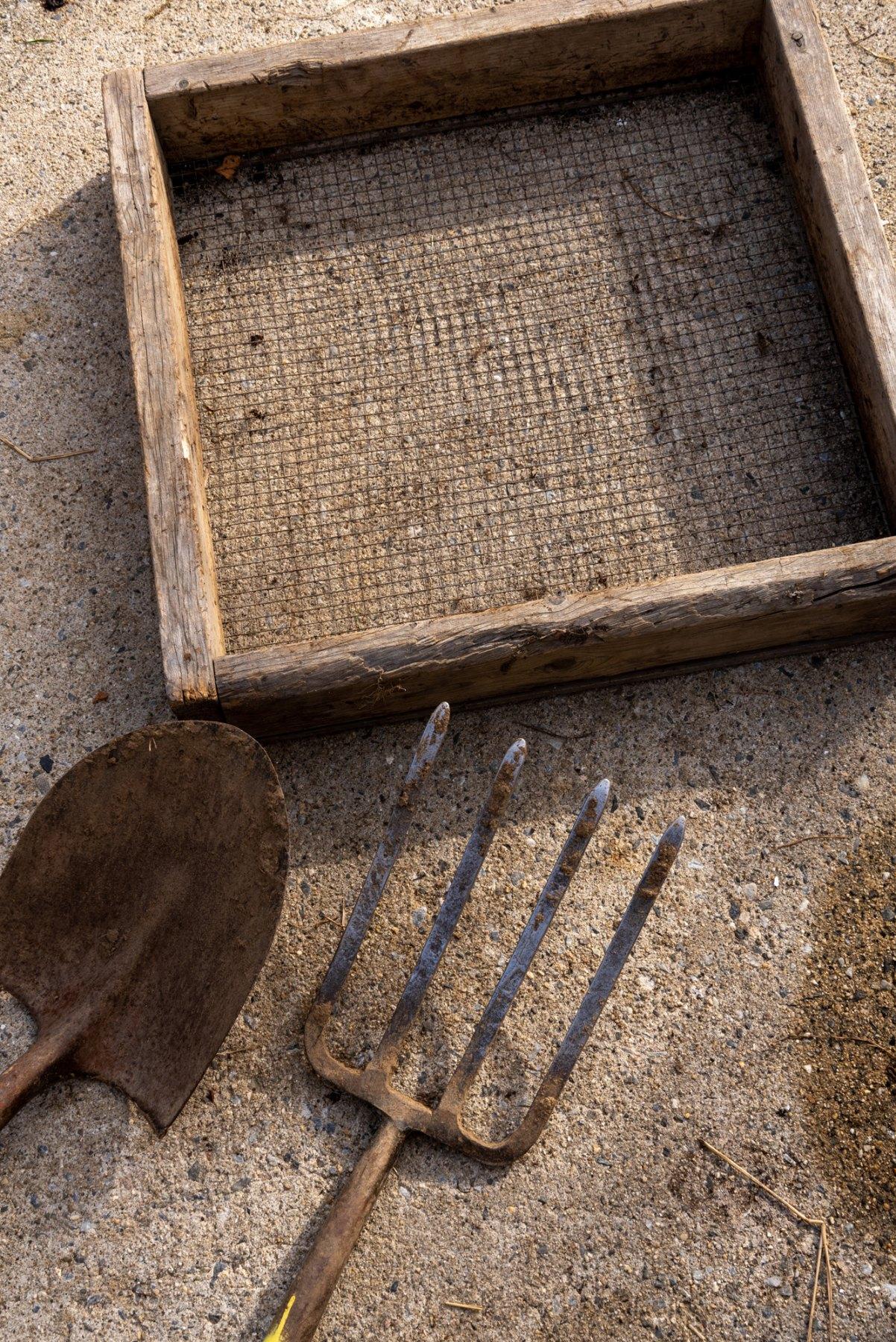 Shovel, Spade and Screener