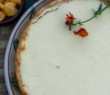 Cream Cheese Tart, Graham Cracker Crust