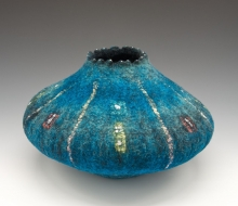 Felted Aqua Vessel