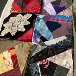 Crazy quilt squares