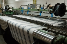 Blankets on the loom.