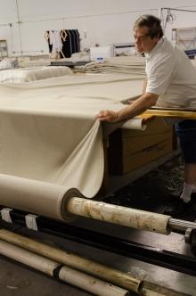 Handling luxuriant textiles.
