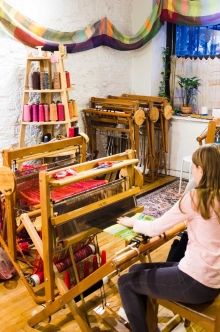 Several young people weaving, too.
