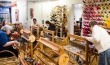 We arrive at Loop of the Loom to weave.