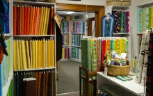 Rooms of fabric at the shop