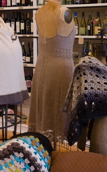 A knitted dress and other garments