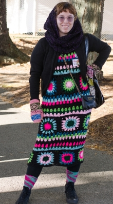 decked out in crochet