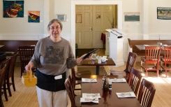 Savory Maine's owner Grace Goldberg shows artwork regularly