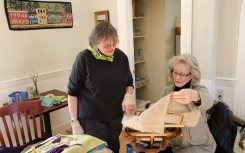 Diane and Susan confer on a new piece