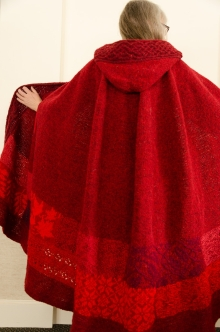 Knitted Red Cape by Colleen Teerling
