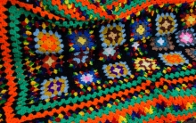 Crochet afghan greeted visitors