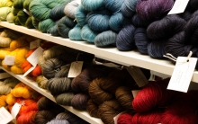 Stacks and stacks of beautiful yarns