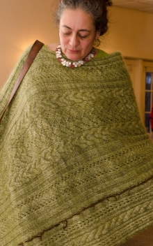 A fashion show participant