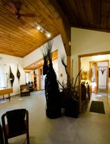 the studio with artwork