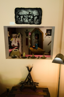 more of her assemblage and felted work