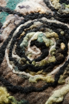 detail from a felted vest