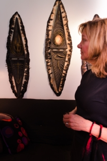 Susan with two of her shields