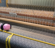 A closeup of one of the looms