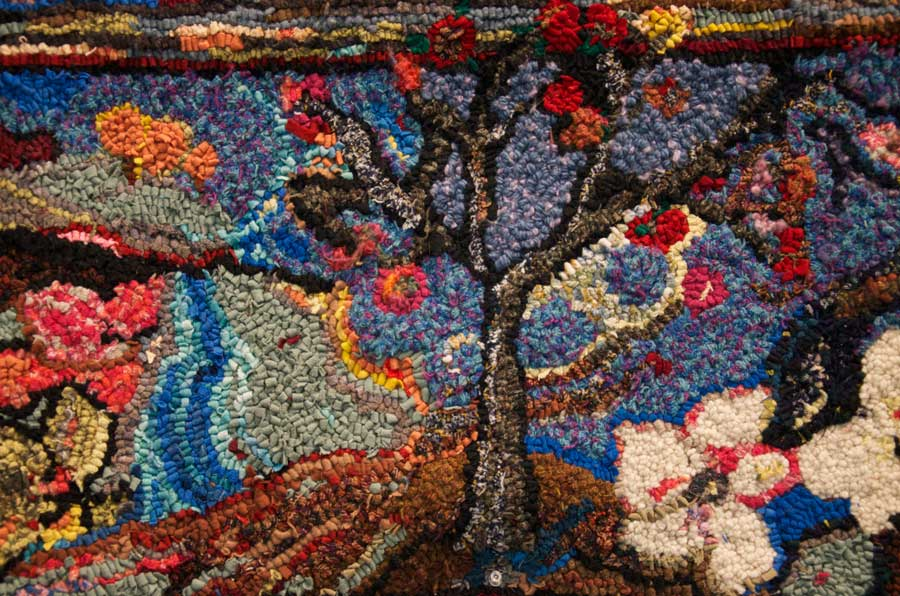 Hooked Rug by Nan Ross, 2010