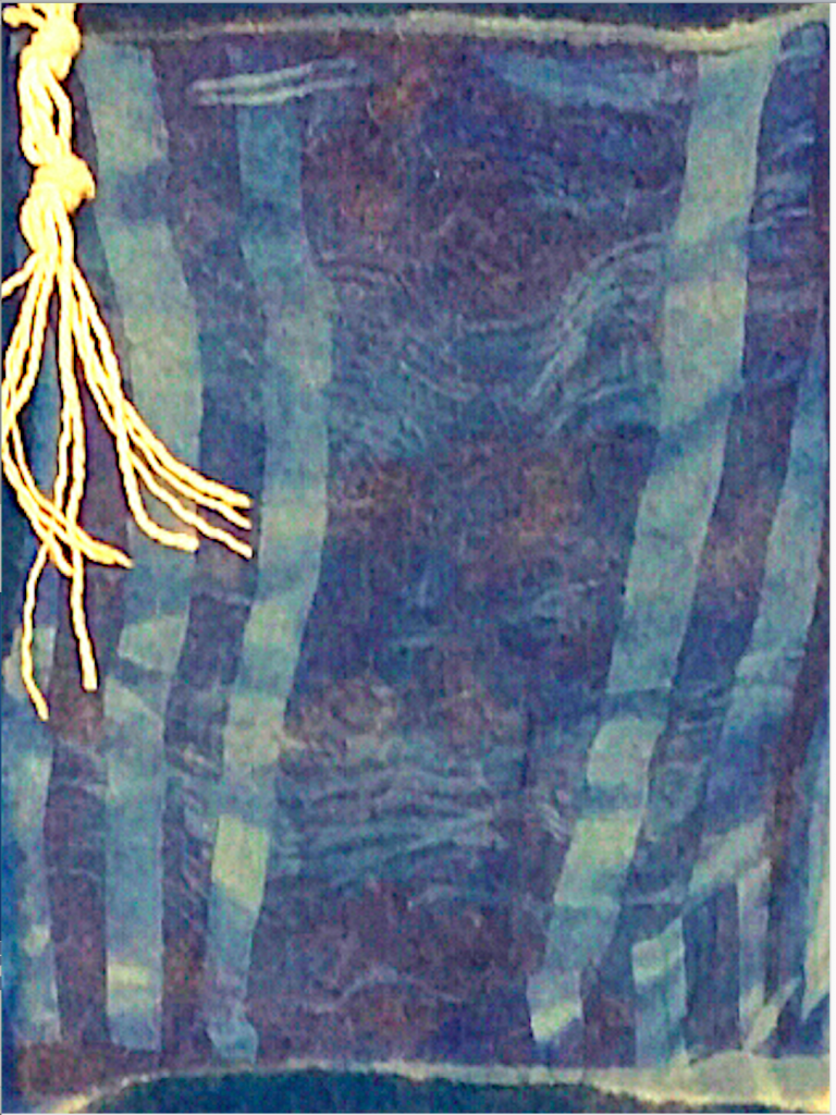 My Grandfather's Tallit is Shredding (detail)